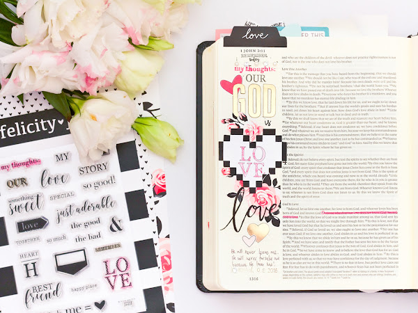 Felicity Jane Creative Team : God Is Love Bible Journaling