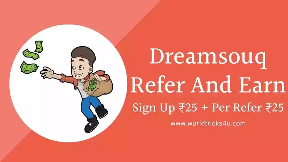 Dreamsouq Refer And Earn Sign Up ₹25 + Per Refer ₹25 | Free Shopping In hindi
