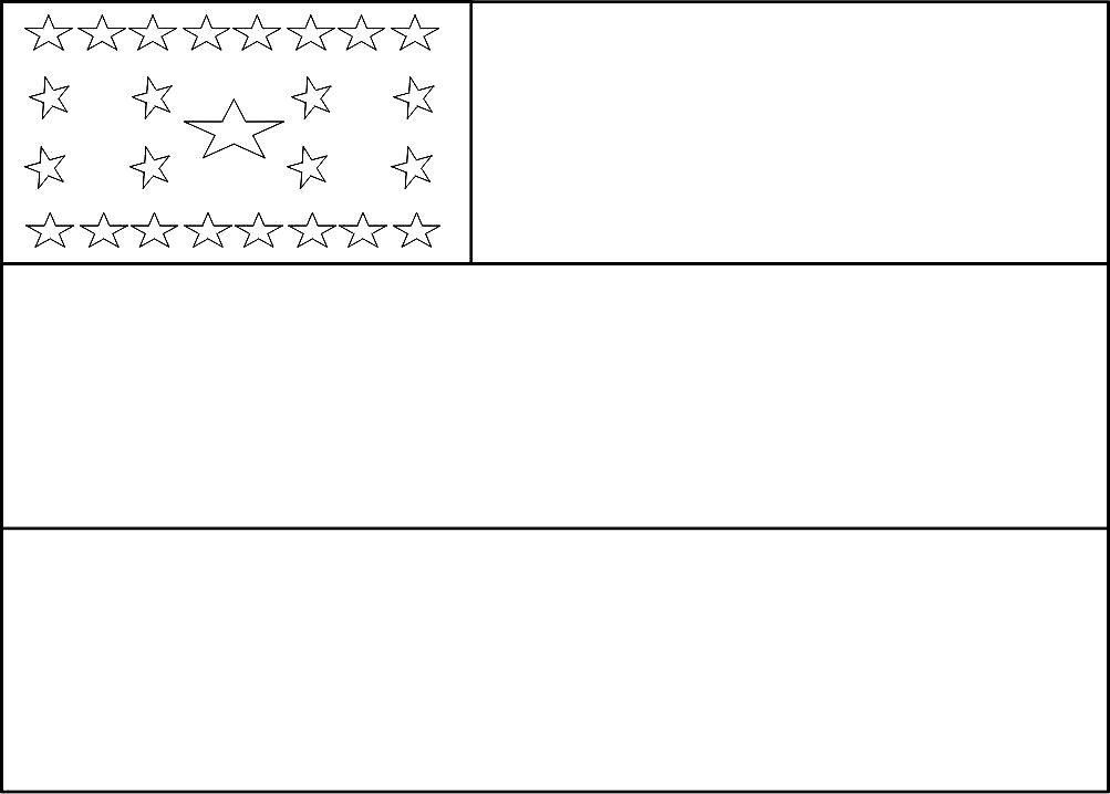 Bandeira do Amazonas para colorir