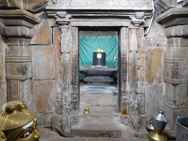 Shiva Linga in one of the shrine rooms of the Bhoga Nandeeshwara Temple, Karnataka