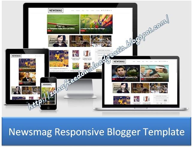 Newsmag Responsive Blogger Template