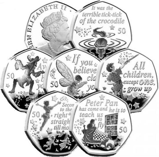 Isle of Man 50 pence 2019 Peter Pan