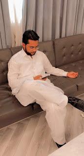 Faizan Munir Khan Reading Book about Sialkot