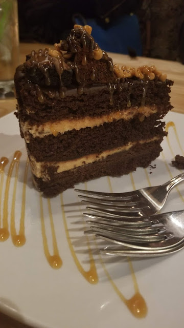 Peanut Butter Blast cake, at Sedona Taphouse, Novi