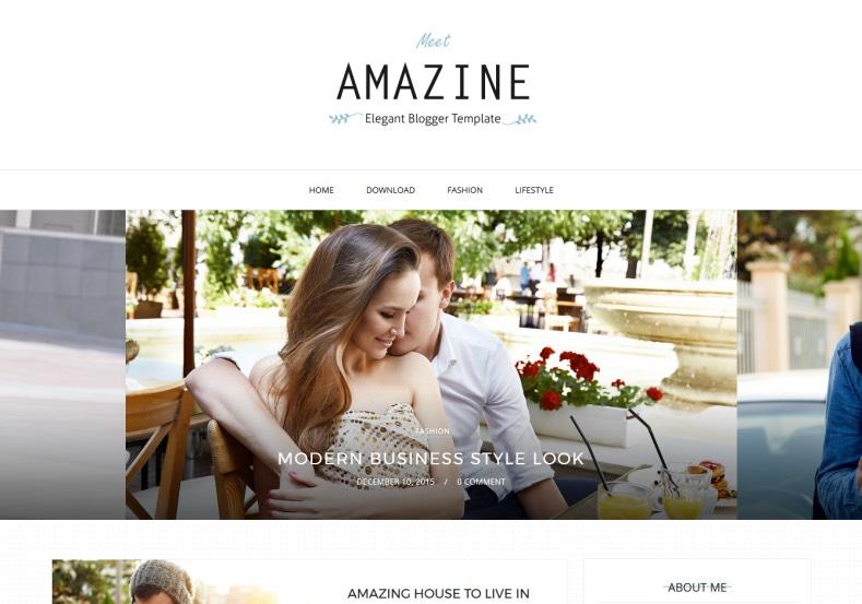 Amazine free elegant blogger templates