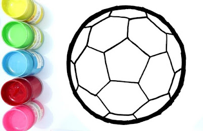gambar sketsa Bola Sepak