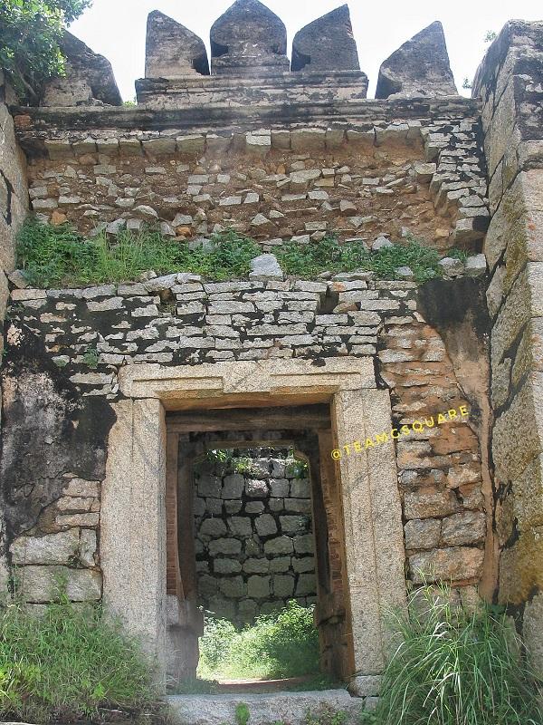 Entering the fort of Channarayana durga