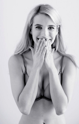 Emma Roberts strips for Aerie Lingerie Campaign