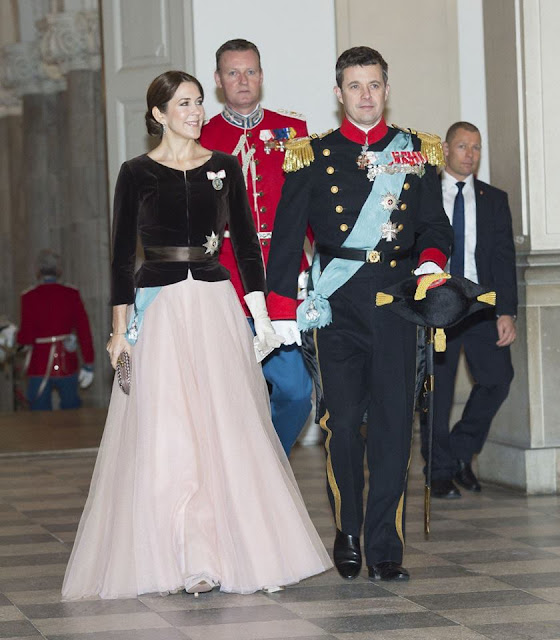 Prince Consort Henrik attend a new years banquet held at Christiansborg Palace for the military and the Danish Emergency Management Agency