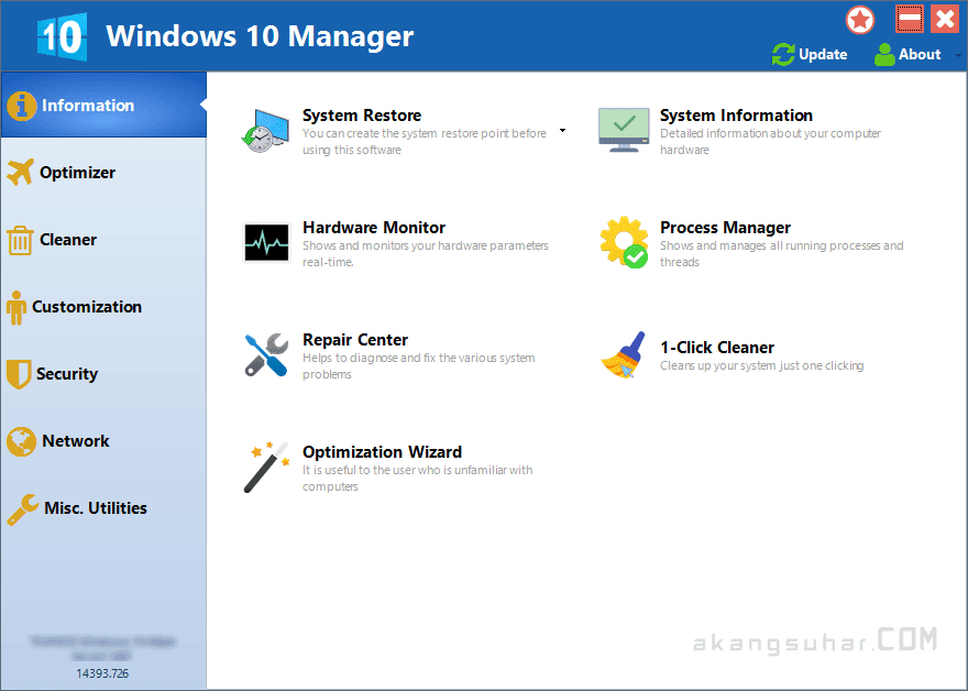 Free Download Windows 10 Manager Final Full Version