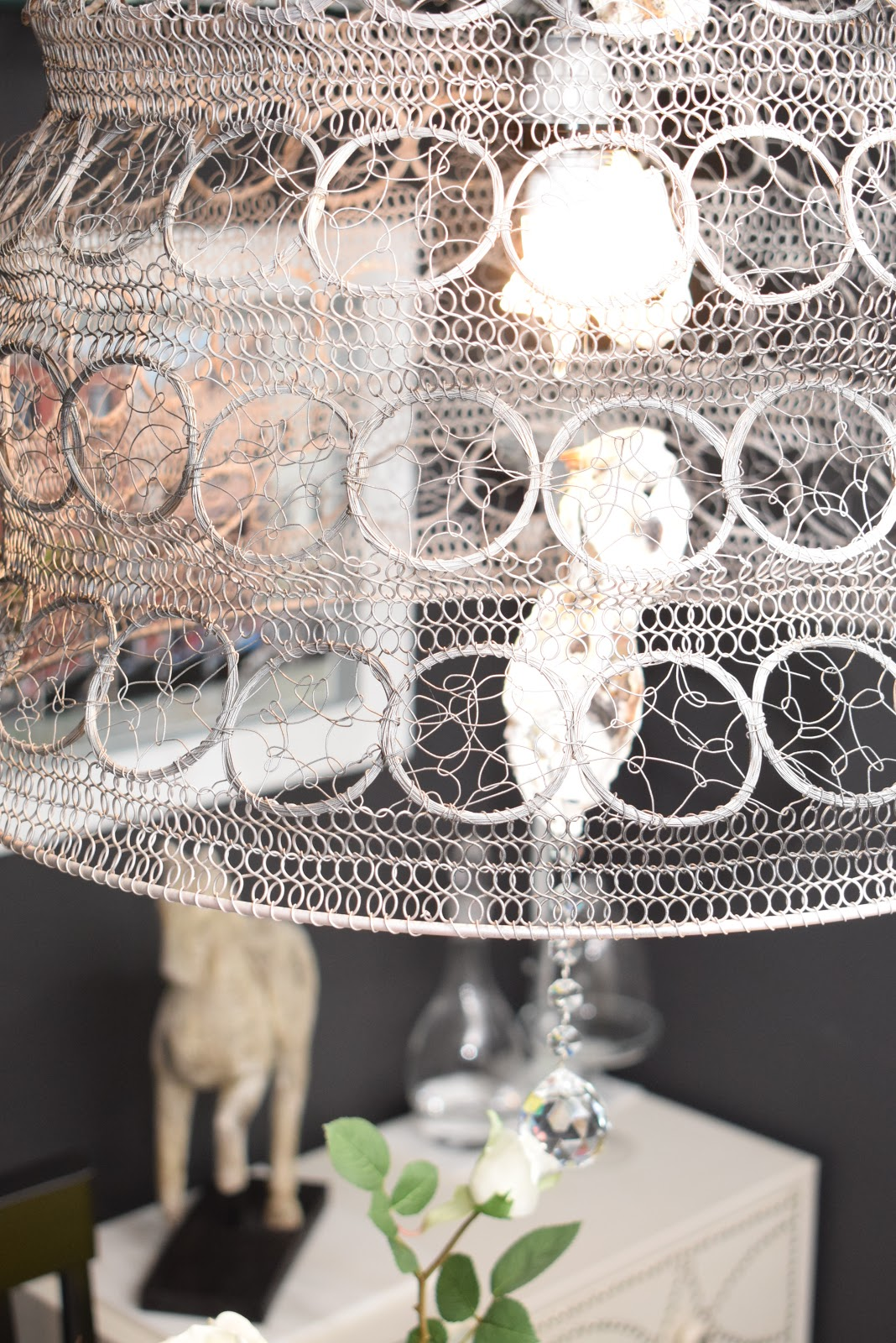 Crystal Chandelier makeover by spacesmadeperfect.com