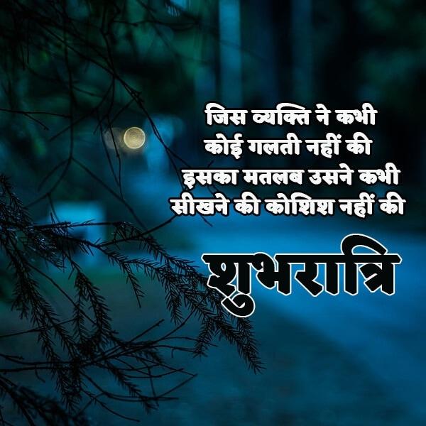 Best Good Night Hindi Love or Romantic Quotes, Message And Shayari