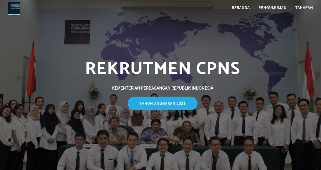 Rekrutmen CPNS Kementerian Perdagangan Republik Indonesia 2021