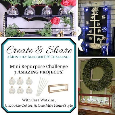 Create and Share Monthly Challenge - December | One Mile Home Style