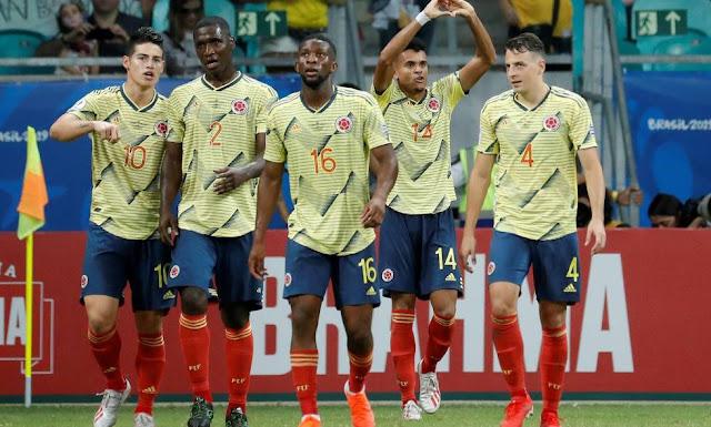 LA SELECCIÓN COLOMBIA IMPONIENDO GOLPE DE AUTORIDAD