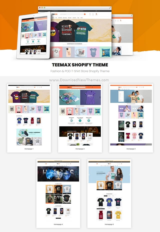 POD T-Shirt Store Shopify Theme