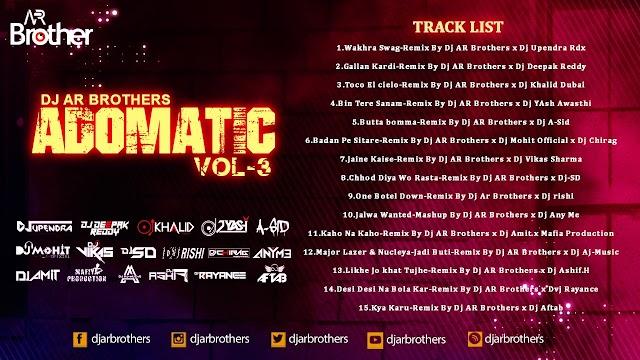 Adomatic Vol 3 Dj Ar Brothers