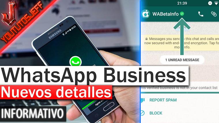 WhatsApp Business Nuevos detalles