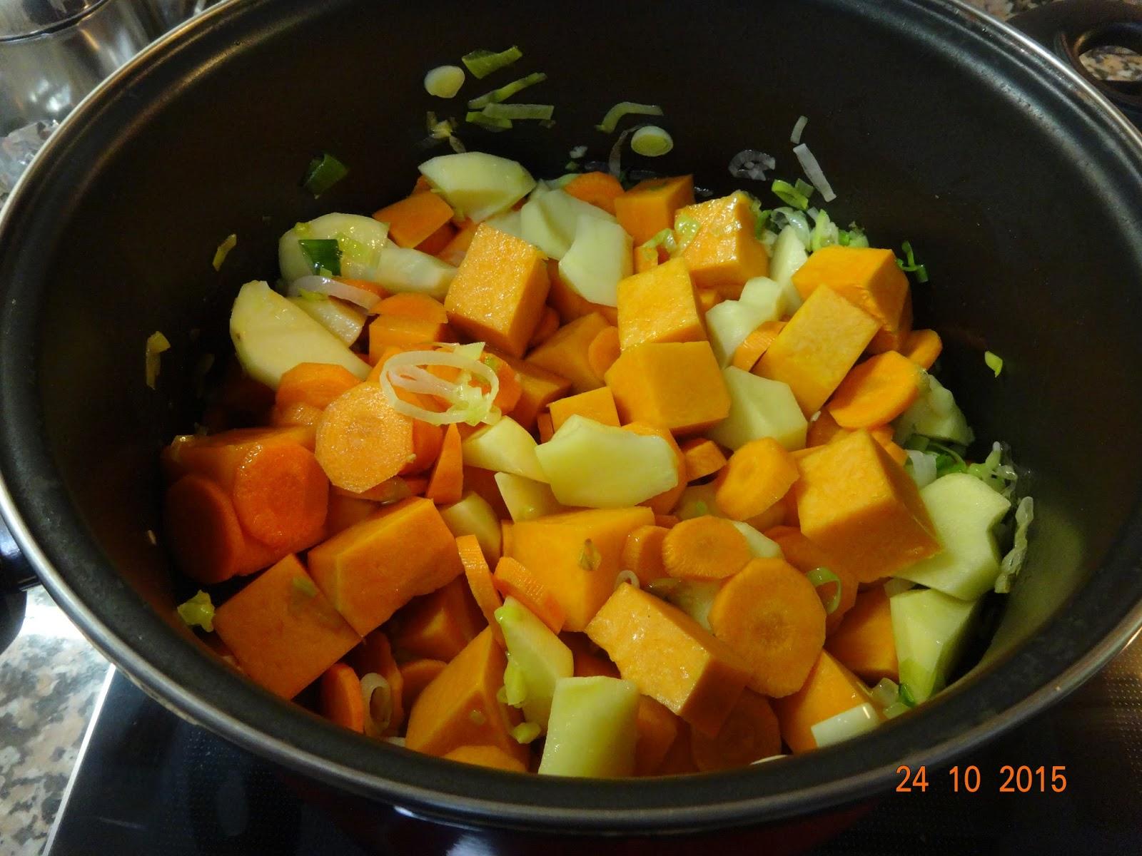 Cocinar es un sentimiento crema de calabaza y zanahoria for Cocinar zanahorias