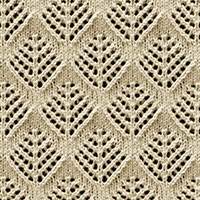 Eyelet Lace 89: Pinetrees | Knitting Stitch Patterns.