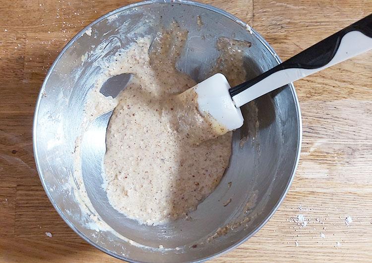 Crème noix de pécan : ajout de l'oeuf