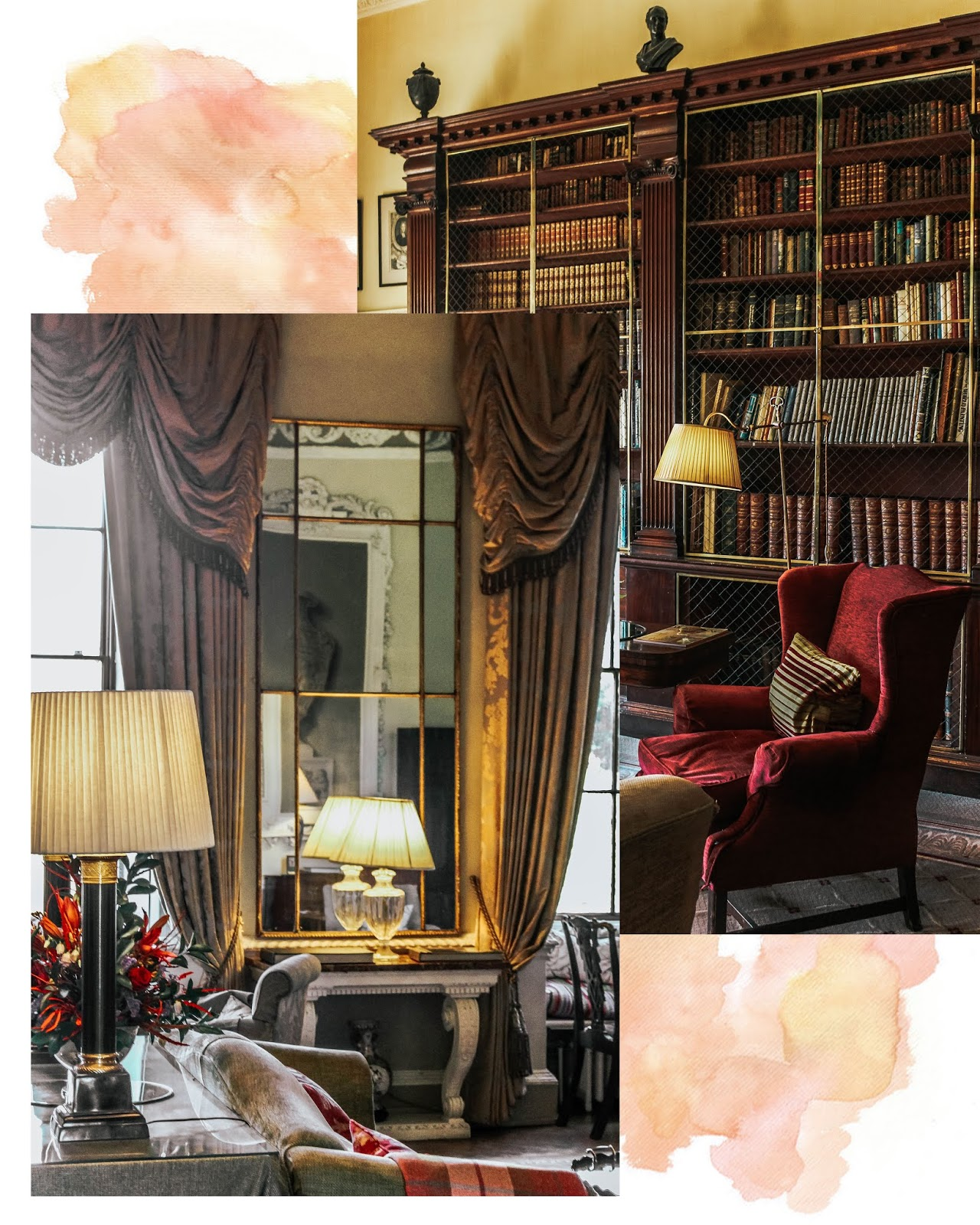 Ston Easton Park Hotel Drawing Room and Library