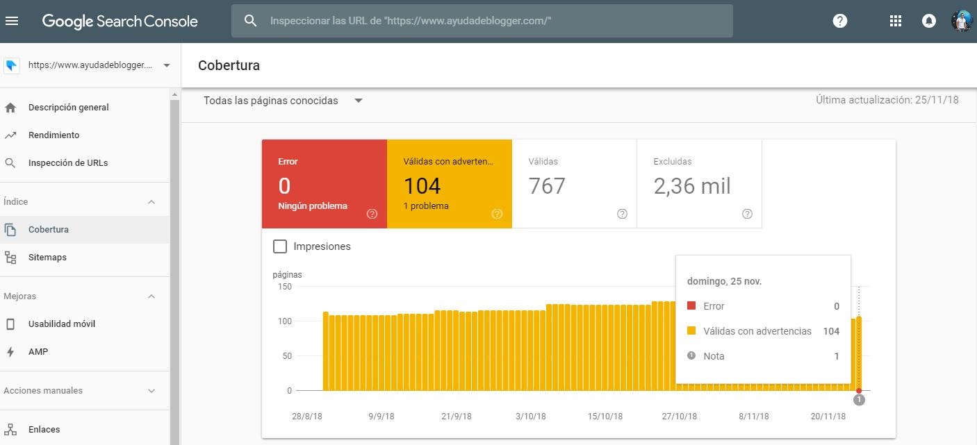 La Consola de Búsqueda de Google actualiza el informe de cobertura de índice para la indexación de dispositivos móviles y advierte sobre la sustitución de informes antiguos