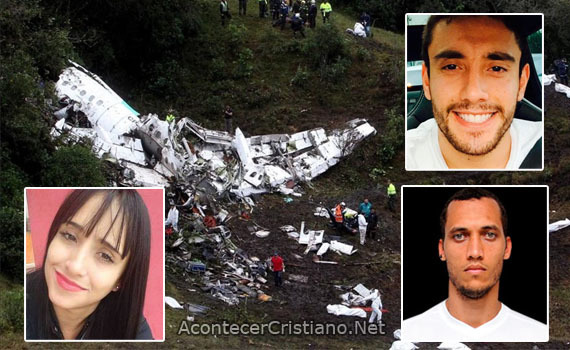 Sobrevivientes al accidente aéreo en Colombia