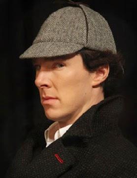 Benedict Cumberbatch Sherlock deerstalker hat BBC Holmes