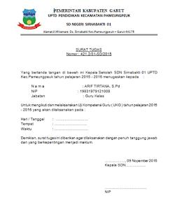 contoh surat tugas UKG
