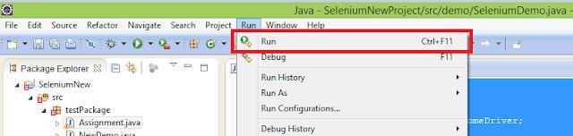 First Selenium Webdriver Script Using Mozilla Firefox Driver