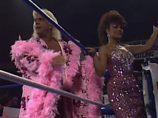 WCW Wrestlewar 1990 - Ric Flair & Woman