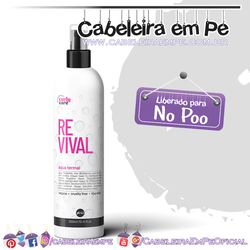 Água Termal Revival - Curly Care (No Poo)