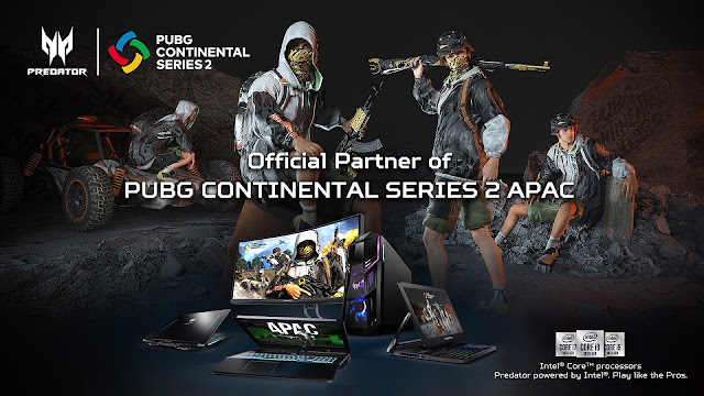 Acer to Sponsor PUBG Continental Series 2 APAC