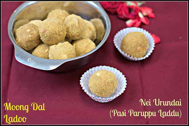 Pasi Paruppu Ladoo | Moong Dal Laddu | Nei Urundai