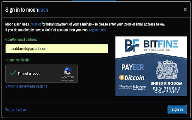 Claim Dash coin miễn phí