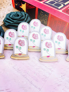 Bookworm Candles and Crafts: Beauty and the Beast Inspired Enamel Pin
