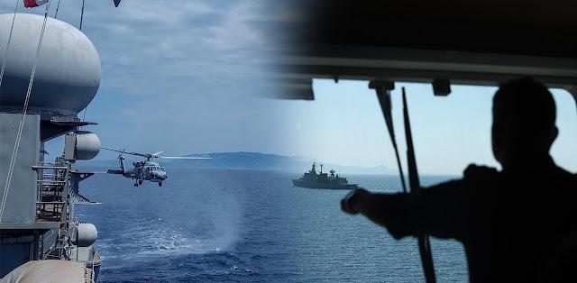 Ανοιχτά του Καστελόριζου 17 τουρκικά πλοία