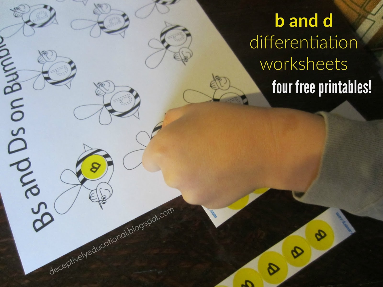 Relentlessly Fun Deceptively Educational Bs And Ds On Bumblebees Free Printable Worksheets