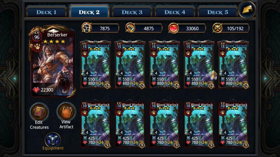 my warlock deck