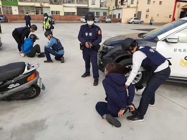 銀行防搶演練超逼真 和美警察分局動員攔截圍捕