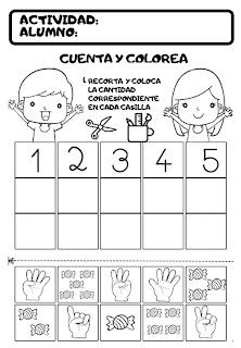 actividades de matemáticas para preescolar, de 5 años
