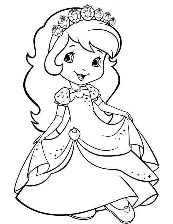 Tranh tô màu công chúa dâu tây