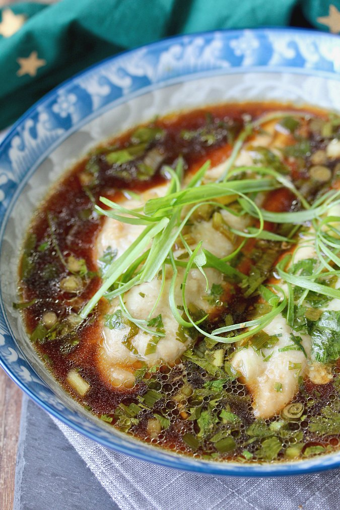 Catfish Fillets in Asian flavored broth