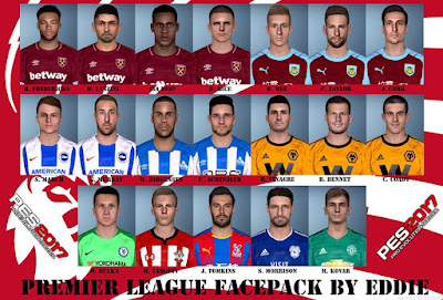 PES 2017 Premier League Facepack 2018/2019 by Eddie Facemaker