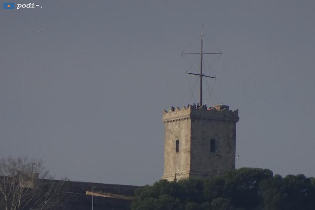Telégrafo óptico en el Castillo de Montjuïc