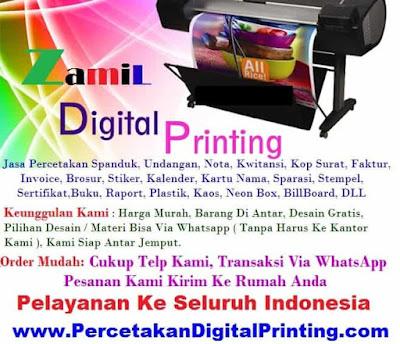 Percetakan Oke Digital Print Cibubur Order Online Via WA dan Email
