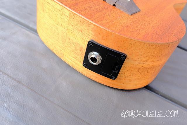 Alvarez RU22SCE Soprano Ukulele jack socket