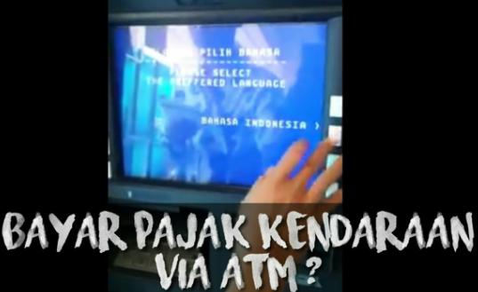 Cara Bayar Pajak Motor Lewat ATM